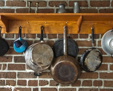 Pots and pans in a kitchen to illustrate what's the best pan for baking brownies