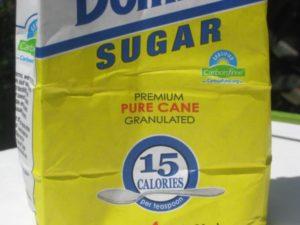 A bag of pure cane sugar