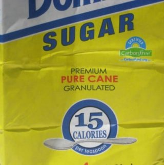 A bag of pure cane sugar
