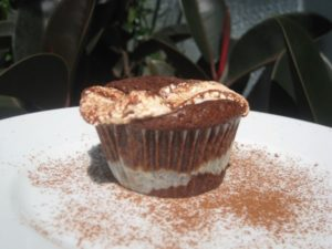 Roasted Marshmallow Brownie Cupcake