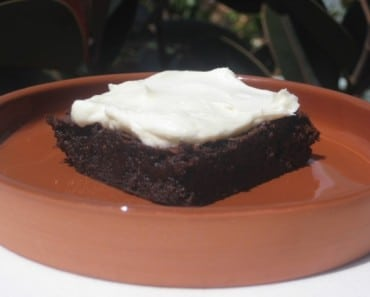 Vietnamese-Style Coffee Brownie with Sweetened Condensed Milk Frosting