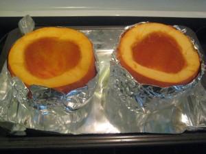 Pumpkin brownies prep