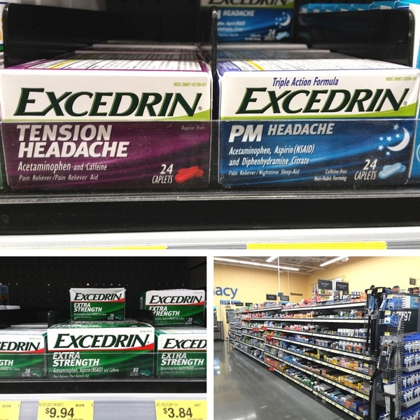 Excedrin at Walmart