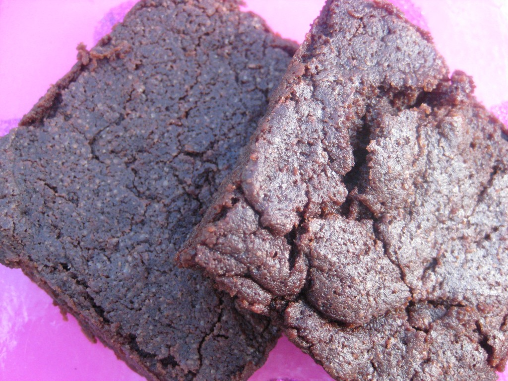 Adding extra flour to brownies makes these