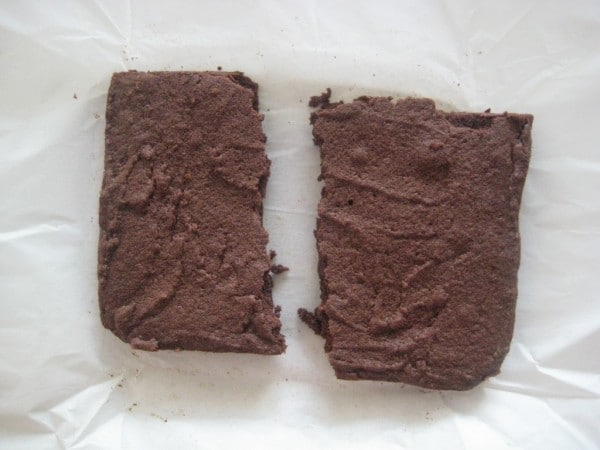overbaked leftover brownies