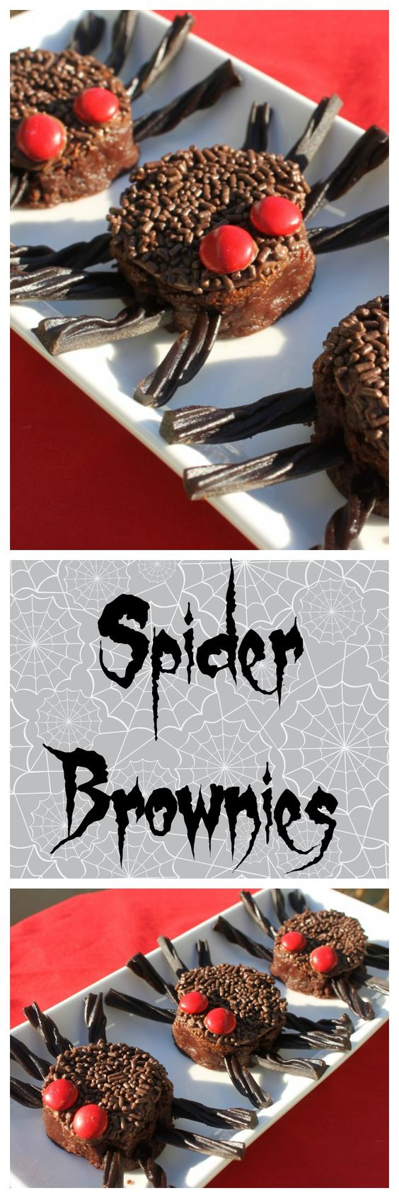 You'll love these easy and fun spider brownies! All you need to make these spider brownies are brownies, frosting, and a few candies. Excellent for parties!