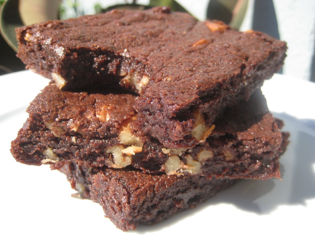 Chewy brownies made with extra sugar