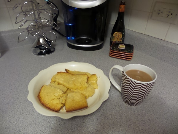 Incredible White Chocolate Brownies and tea