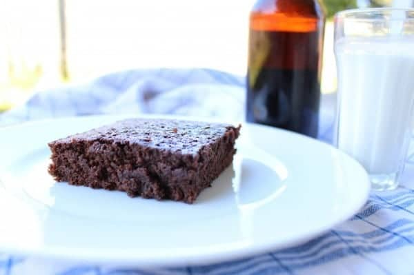 Chocolate Stout Beer Brownies Recipe | #SundaySupper