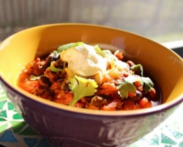 Hearty Beef Bean Roasted Red Pepper Chili Recipe