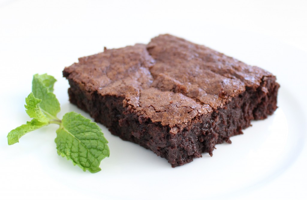Deep dish brownies with mint infusion