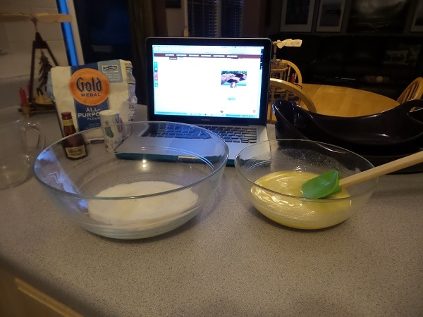 ingredients for white chocolate brownies