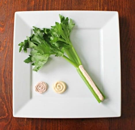 Celery with PB & J Cream Cheese Dips
