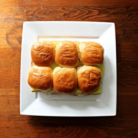 Cuban Sandwich Sliders Overhead