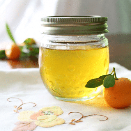 Jar of Kumquat Syrup