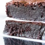 You'll love these decadent flourless brownies! Made with absolutely no flour of any kind, they are brimming with intense chocolate flavor and fudginess.
