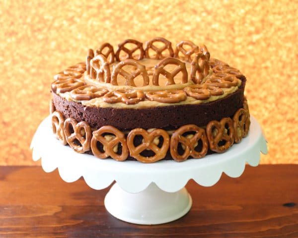 Pretzels, Peanut Butter, and Beer Cake Recipe