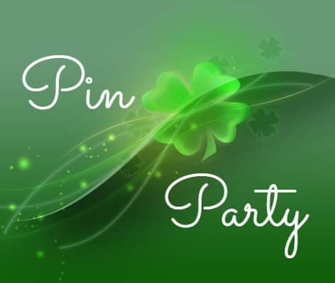St Patricks Day Four Leaf Clover Pin Party