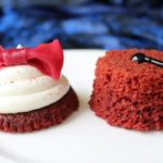 Doctor Who Party Ideas Red Velvet Cupcake Bowtie and Fez