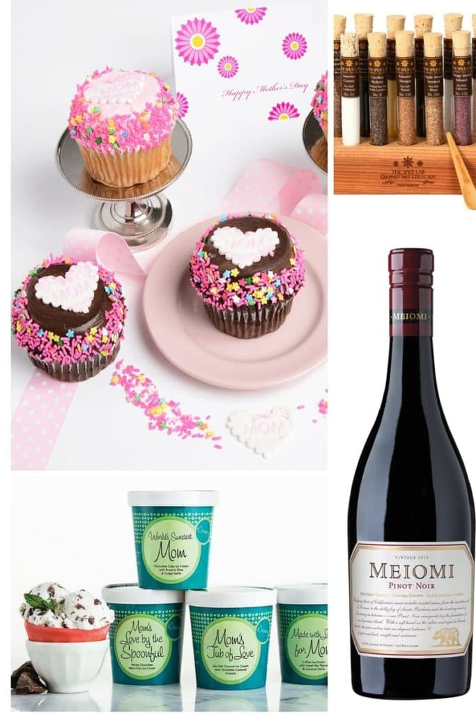 Gift ideas for Mother's Day!  Get the best food, drink, snacks, and other gourmet goodies that Mom will love.