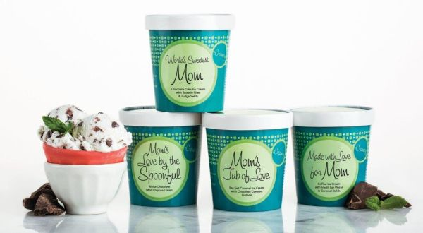 Gift Ideas for Mother's Day: Custom decorated ice cream cartons, just for Mom!