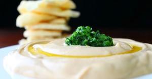 Spicy Hummus with Jalapeno Cilantro Salsa Recipe