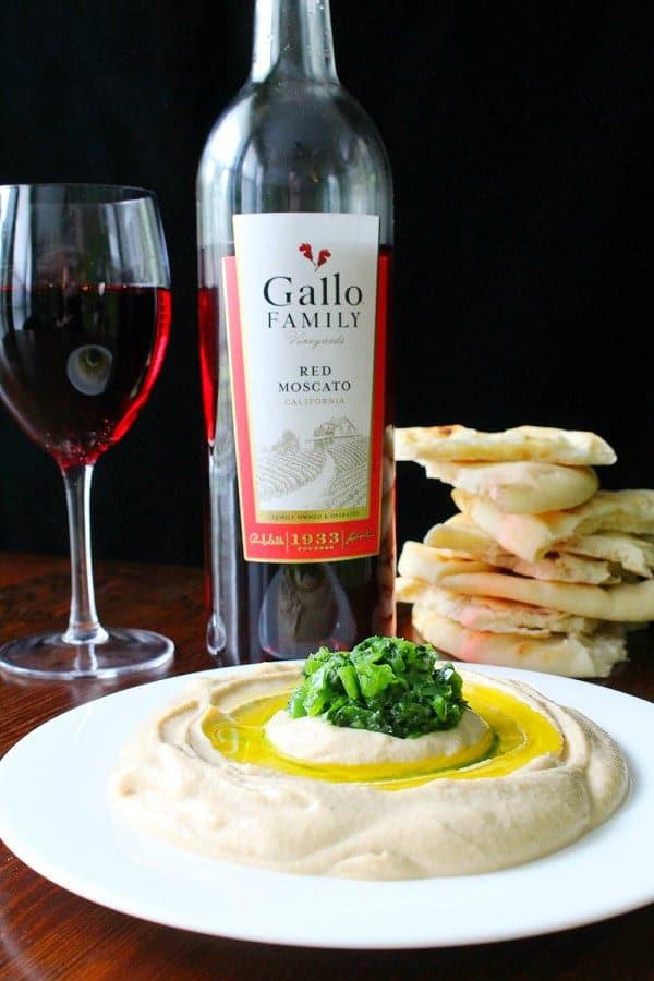 Spicy Hummus with Jalapeno Cilatro Salsa Recipe