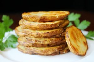 Olive Oil and Sea Salt Crispy Potato Rounds