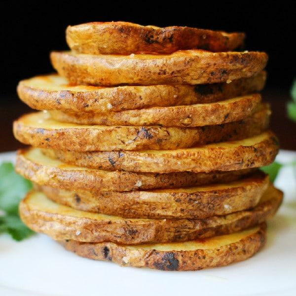 Olive Oil and Sea Salt Oven-Roasted Crispy Potato Rounds