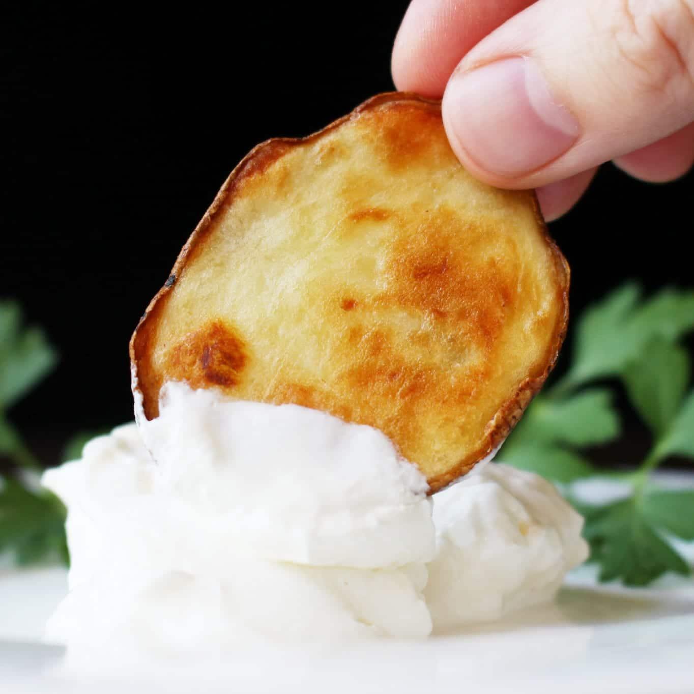 Olive Oil and Sea Salt Oven-Roasted Crispy Baked Potato Rounds