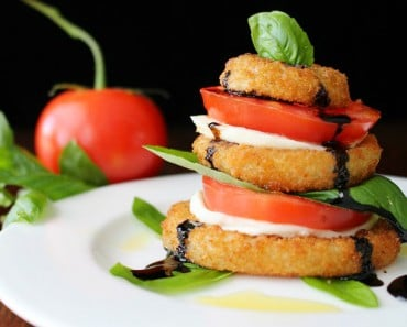 Onion Ring Caprese Salad Stack Recipe 1