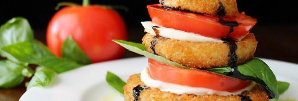 Onion Ring Caprese Salad Stack Recipe 1