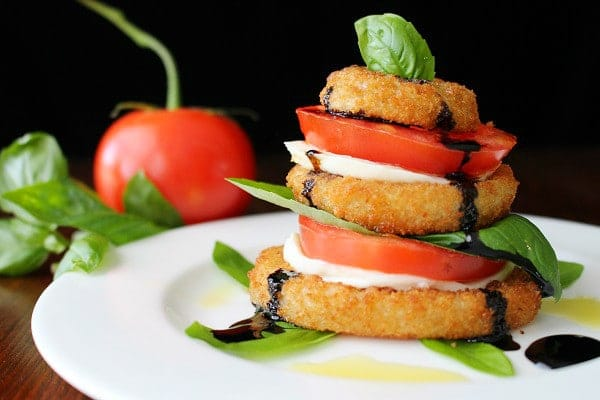 Onion Ring Caprese Salad Stack Recipe