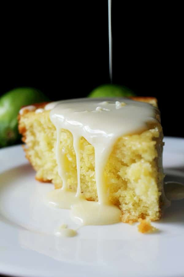 Inspired by a classic Italian lemon and olive oil cake, this Key Lime and Olive Oil Cake is flavorful and has a condensed milk glaze!