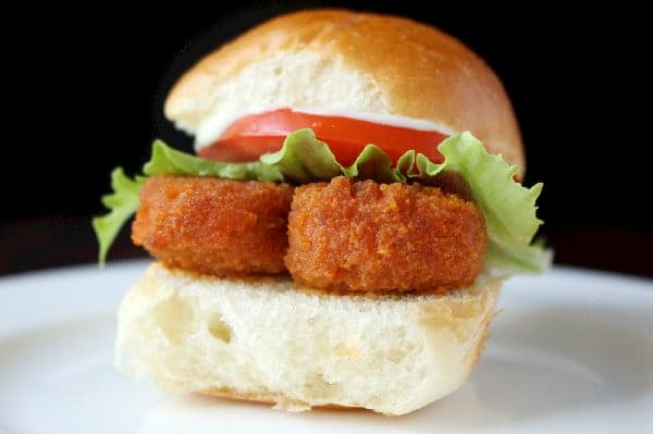 Veggie Buffalo Chicken Sliders Recipe MorningStar Farms Nuggets