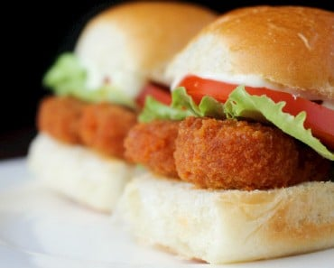 Veggie Buffalo Chicken Sliders Recipe with MorningStar Farms Nuggets