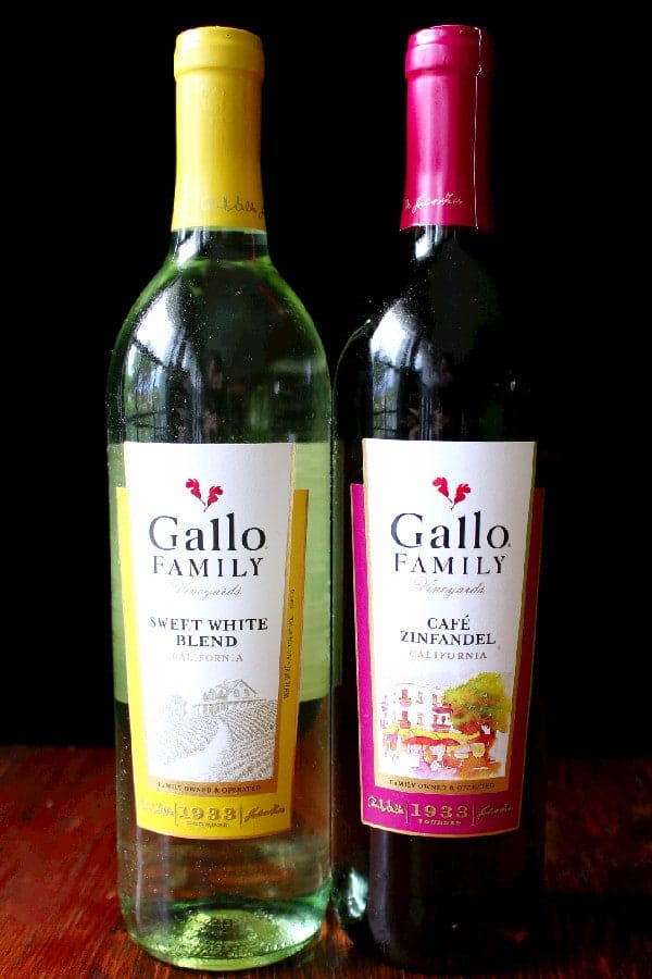 Gallo Family Vineyards Sweet White Blend and Cafe Zinfandel