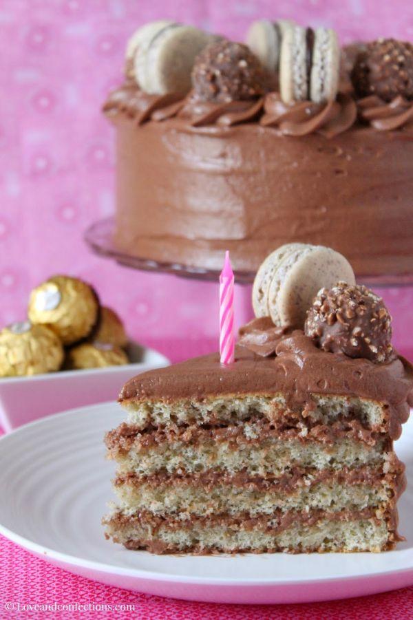Hazelnut Macaron Cake