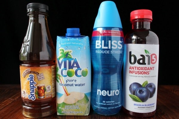 Snapple Straight Up Tea, Vita Coco, Neuro Bliss, Bai5