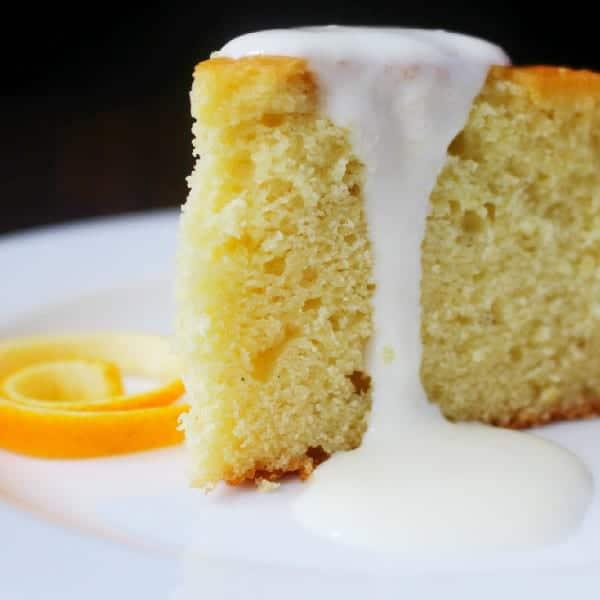 Spaghetti Squash Cake with Orange Cream and Peel