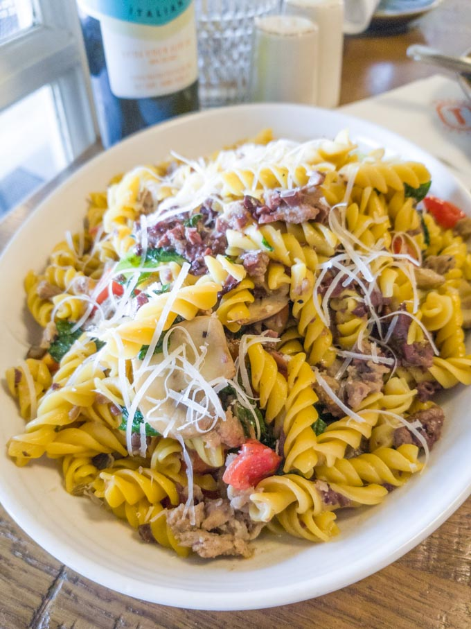 Gluten free pasta at Terralina Crafted Italian restaurant
