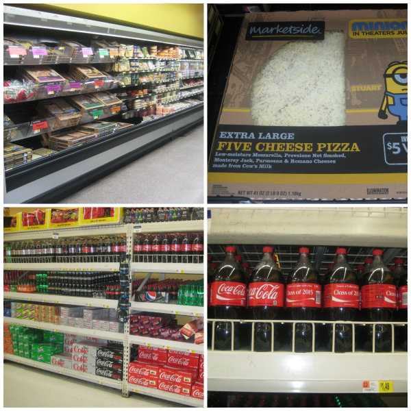 Walmart Effortless Meals Pizza and Coke