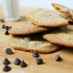 Whole Wheat Chocolate Chip Cookies with Crunchy Edges