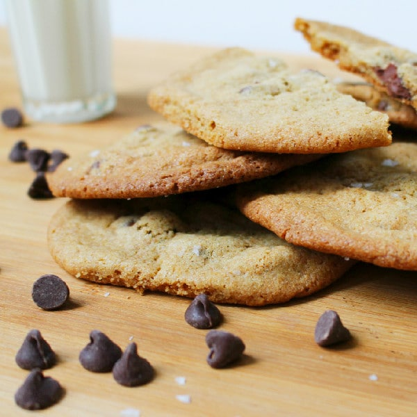 Whole Wheat Chocolate Chip Cookies, Milk, and Salt