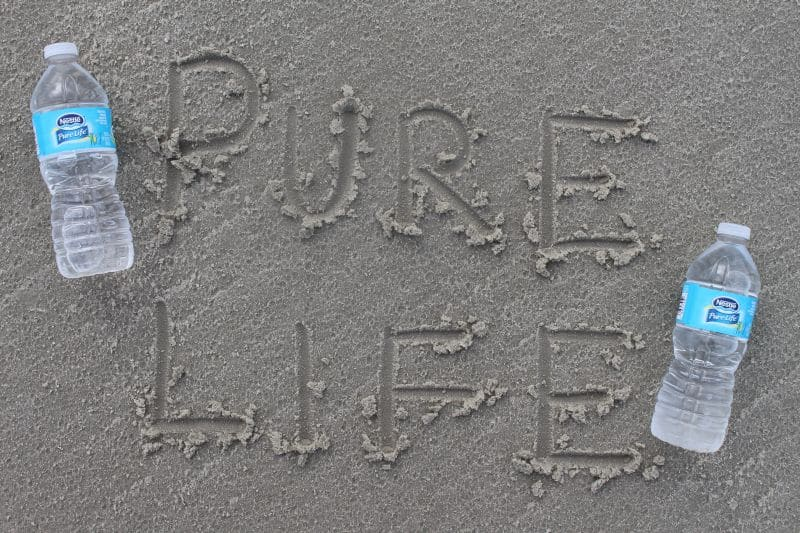At the Beach with Nestle Pure Life Water
