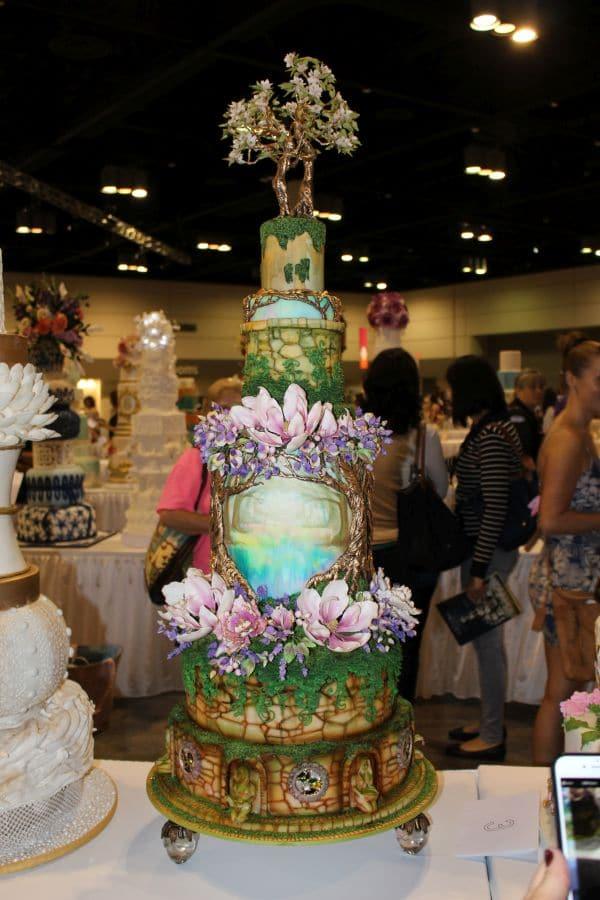 Baroque fantasy cake