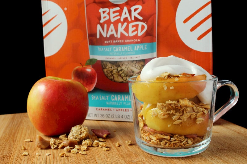 Bear Naked Sea Salt Caramel Granola and Cooked Apples