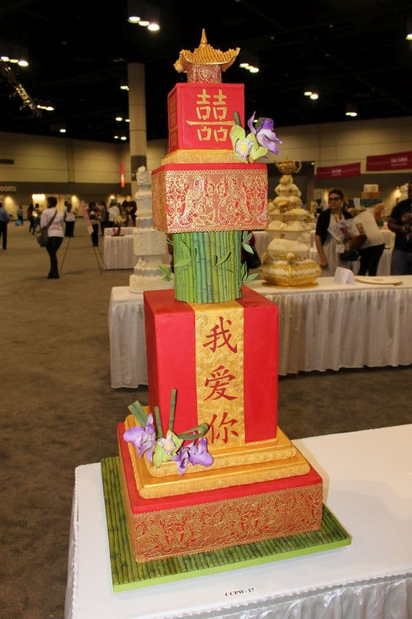 Chinese themed cake