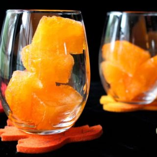 Halloween Punch Orange Fanta Ice Cubes