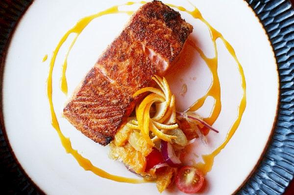 Salmon at Urban Tide Orlando Seafood Restaurant
